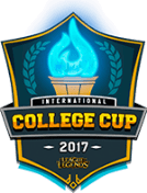 League of Legends nternational College Cup ロゴ
